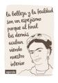 Agenda portada frase de Frida. Diseño original de Ofteco.